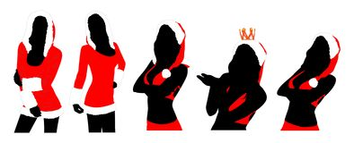 New year women silhouettes Royalty Free Stock Photography