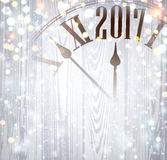 2017 New Year wooden background. Stock Images