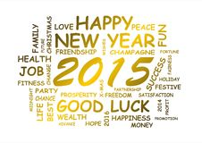 New year 2015. Word cloud for new year 2015 Stock Photos