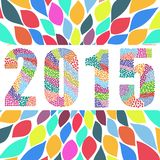 2015 new year. Word vector graphic illustration design art Royalty Free Stock Images