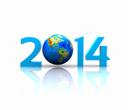 New Year - 2014. Worldwide..celebrates the New Year - 2014 Stock Image
