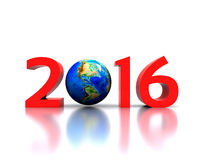 New Year 2016. Worldwide..celebrates the New Year - 2016 Stock Photography