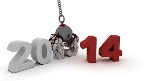 2014 new year wrecking ball Royalty Free Stock Images