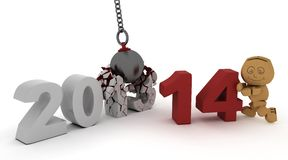 2014 new year wrecking ball Royalty Free Stock Photography