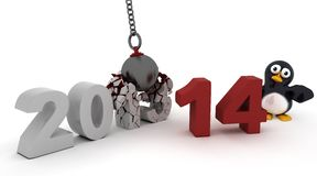 2014 new year wrecking ball Royalty Free Stock Photos