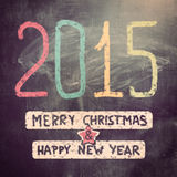 New year 2015. Written on chalk board for christmas Stock Image