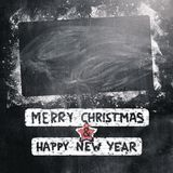New year 2015. Written on chalk board for christmas Royalty Free Stock Photography