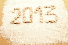 New year written with pebbles Royalty Free Stock Photography