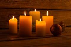 New year's night. Romantic atmosphere. Royalty Free Stock Photos