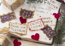 New Year's Resolutions Royalty Free Stock Photo