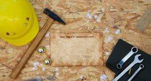 Free New Year& X27;s Day Resolution For Simple Workers. Background Royalty Free Stock Photos - 134567188
