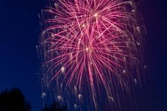 New Year'S Eve, Fireworks, Night Royalty Free Stock Photos