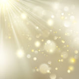 New year and Xmas Defocused Background With Blinking Stars. EPS 10 vector. New year and Xmas Defocused Background With Blinking Stars. Christmas golden holiday Stock Image