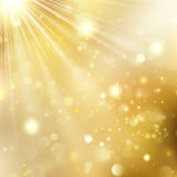New year and Xmas Defocused Background With Blinking Stars. EPS 10 vector. New year and Xmas Defocused Background With Blinking Stars. Christmas golden holiday Royalty Free Stock Image
