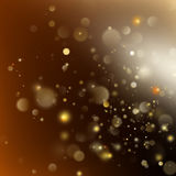 New year and Xmas Defocused Background With Blinking Stars. EPS 10 vector. New year and Xmas Defocused Background With Blinking Stars. Christmas golden holiday Royalty Free Stock Photo