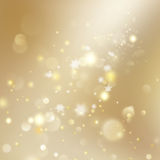 New year and Xmas Defocused Background With Blinking Stars. EPS 10 vector. New year and Xmas Defocused Background With Blinking Stars. Christmas golden holiday Stock Photo