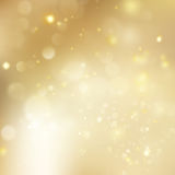 New year and Xmas Defocused Background With Blinking Stars. EPS 10 vector. New year and Xmas Defocused Background With Blinking Stars. Christmas golden holiday Stock Images
