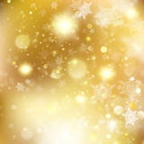 New year and Xmas Defocused Background With Blinking Stars. EPS 10 vector. New year and Xmas Defocused Background With Blinking Stars. Christmas golden holiday Stock Photos