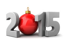2015 new year. And xmas sign, over white background Stock Photos