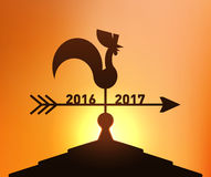 New Year 2017, Year of Rooster. New Year 2017 Chinese Zodiac Royalty Free Stock Photo