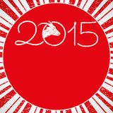 New Year 2015 Year of the Sheep red. Background Stock Images