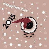 New year 2015. Year of sheep. New year 2015. Year of sheep for you design Stock Photography