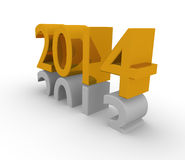New Year 2014. New Years 3d concept 2014 Royalty Free Stock Image
