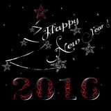 New Year 2016. 2016 - New Years greeting card Stock Photography