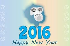 New Year. S unpredictable fire monkey Royalty Free Stock Photo