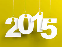 New Year 2015 Yellow Stock Photography