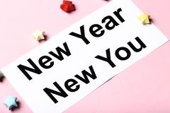 New year new you stock photos