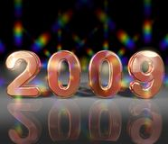 New Years 2009. Background with 2009 for a New Years celebration royalty free illustration