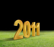 New Years 2011. 3d New Years 2011 background royalty free illustration
