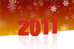 New Years 2011. Abstract background with New Years 2011 Royalty Free Stock Image