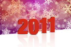 New Years 2011. Abstract background with New Years 2011 Royalty Free Stock Photo