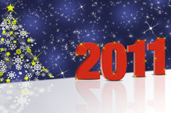 New Years 2011. Abstract background with New Years 2011 Stock Photos