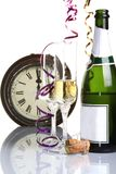 New years. Image of glasses on a golden new years day Stock Image