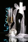 New years. Image of New years eve celebration with glass of champagne Royalty Free Stock Images