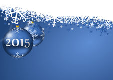 New years 2015 background. With christmas balls stock illustration