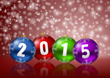 New years 2015 background. With christmas balls vector illustration