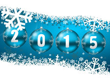 New years 2015 background. With christmas balls royalty free illustration