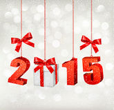 2015 New Years background with gift. Vector Stock Photography