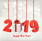 2019 New Years background. Vector. Royalty Free Stock Image