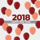 New Years 2018 Ball Design Holiday. Happy New Years 2018 Ball Design Holiday , High Resolution 300Dpi Stock Images