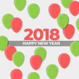 New Years 2018 Ball Design Holiday. Happy New Years 2018 Ball Design Holiday , High Resolution 300Dpi Stock Image