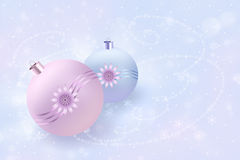 New Years balls. New Year`s composition. Greeting card or background for Christmas and New Year Royalty Free Stock Photography