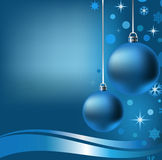2 New Years balls. Snowflakes, stars, circles on a dark blue background Stock Photography