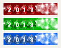 New years banners. On grey background Stock Image