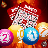 New Years bingo balls background Royalty Free Stock Image