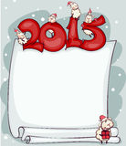 New Years blank 2015 with ram. New Years blank 2015 with the ram and goat. Place for text royalty free illustration